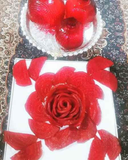 تزیین لبو برای شب چله عروس