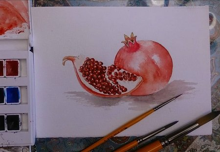 نقاشی شب یلدا برای کلاس سوم