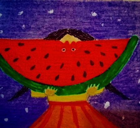 نقاشی یلدا مبارک