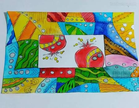 طراحی نقاشی شب یلدا