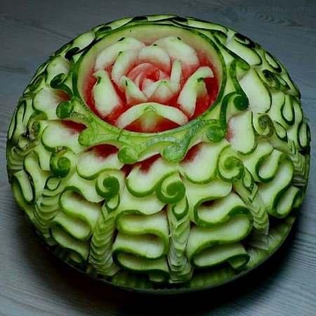 تزیین هندوانه ساده و شیک