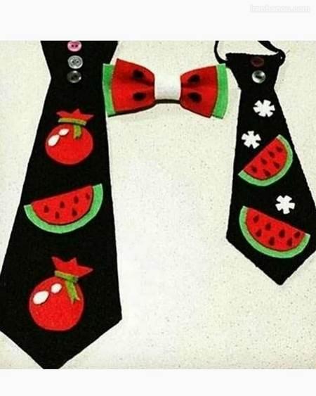 الگوی کراوات نمدی پسرانه
