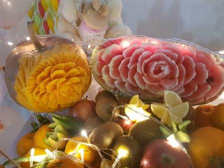 تزیین هندوانه ساده و زیبا