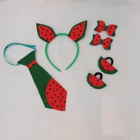الگوی کراوات نمدی هندوانه