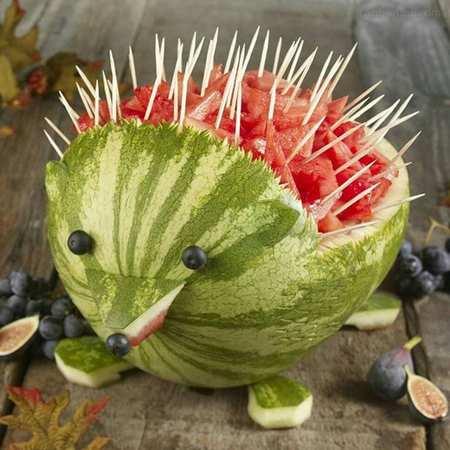 تزیین هندوانه ساده و راحت