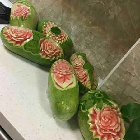 اموزش تزیین هندوانه شب یلدا به روش ساده