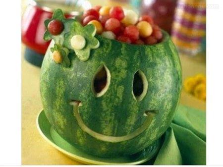 تزیین هندوانه با تور