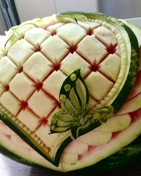 تزیین هندوانه بدون برش