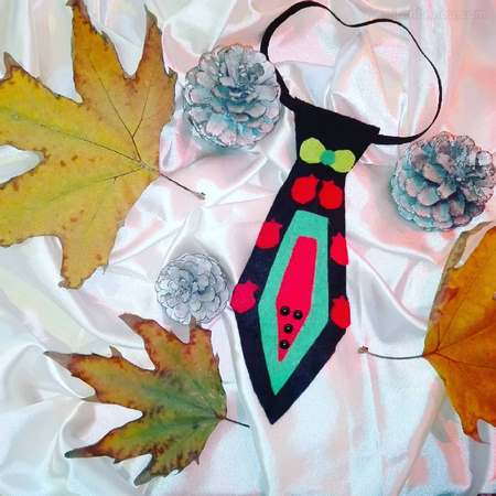 الگوی کراوات نمدی شب یلدا
