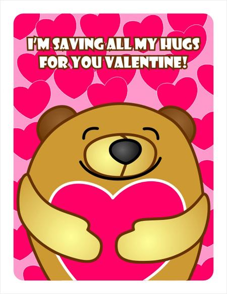 کارت خرس ولنتاین, کارت پستال خرس ولنتاین