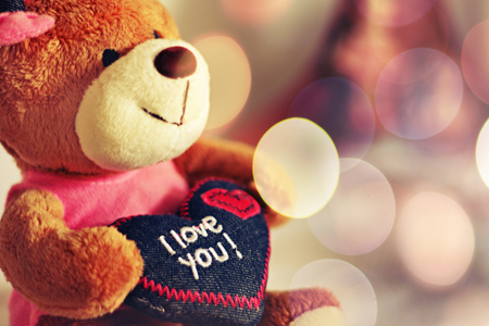 خرس و قلب قرمز ولنتاین, تصاویر کارت پستال خرس ولنتاین