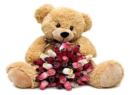 خرس و قلب قرمز ولنتاین,کارت پستال خرس ولنتاین