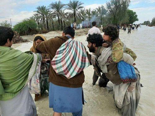 تصاویر آخرالزمانی از سیل سیستان و بلوچستان