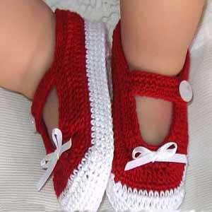 کفش نوزاد بافتنی , آموزش مرحله ای بافتنی