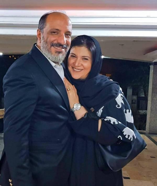 امیر جعفری و همسرش