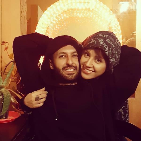 حسام محمودی فرید و همسرش