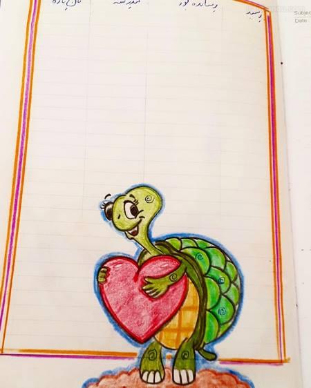 نقاشی برای حاشیه دفتر کودکان