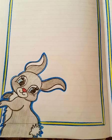 تزیین صفحات دفتر مشق با نقاشی