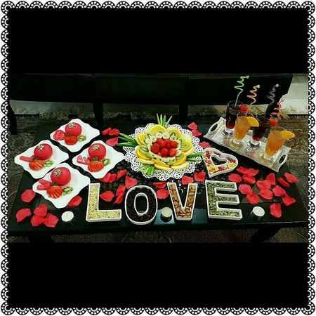 تزیین میز ولنتاین در خانه