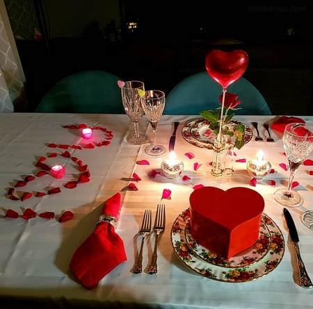 میز ولنتاین دونفره