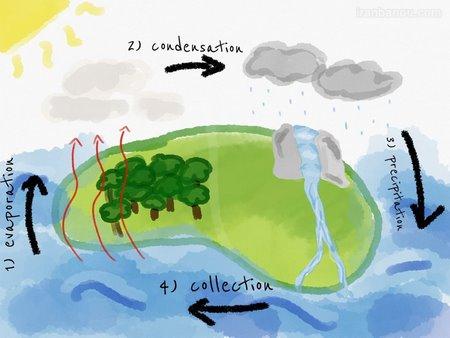 مراحل چرخه آب سوم ابتدایی