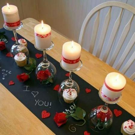 تزیین میز ولنتاین با ایده هایی رمانتیک