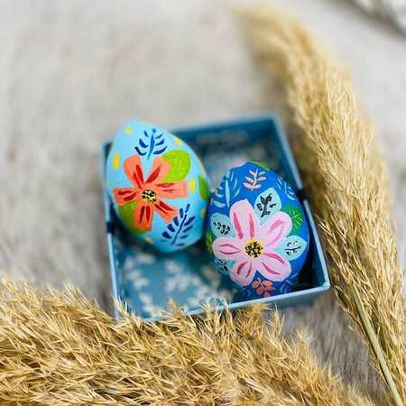 تزیین تخم مرغ رنگی عید برای سفره هفت سین