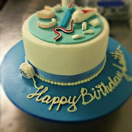 عکس کیک تولد دندانپزشکی