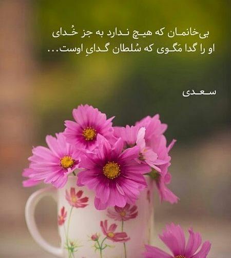 عکس نوشته از اشعار سعدی