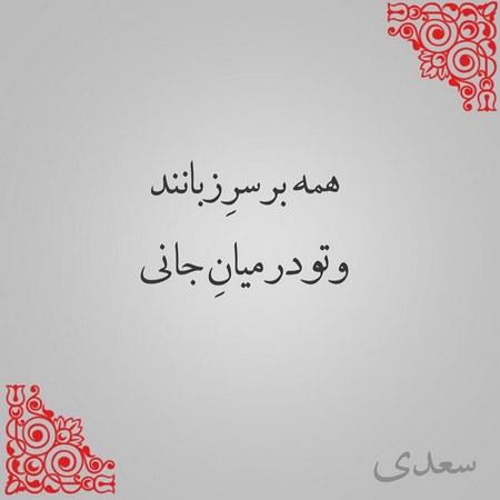 عکس پروفایل سعدی