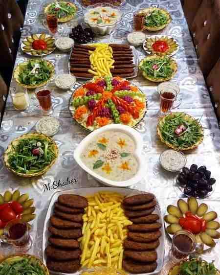 تزیین افطاری بردن برای عروس