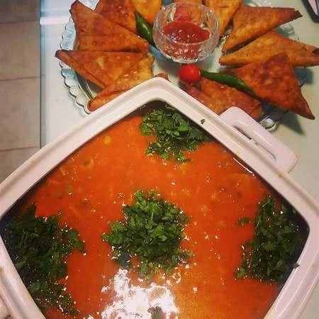 تزیین سوپ رشته فرنگی