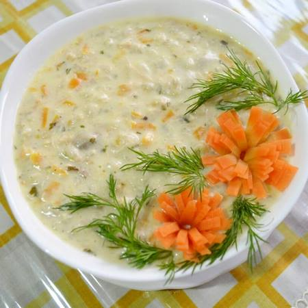 دیزاین سوپ با هویج