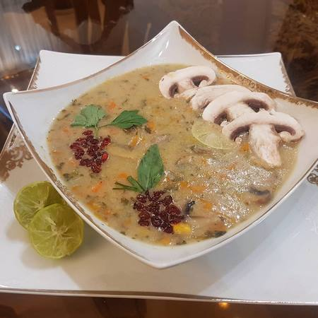 تزیین سوپ جو مجلسی