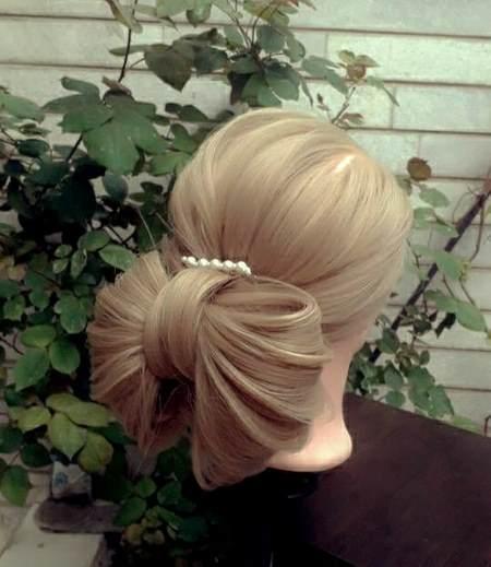 مدل مو با تاج گل گرد