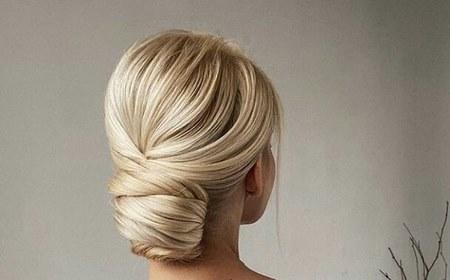 مدل مو با گل رز