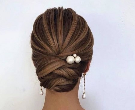 مدل مو باز با تاج گل طبیعی