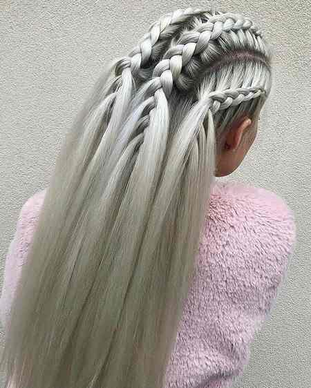مدل بافت مو دخترانه ساده و شیک
