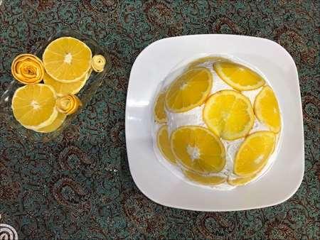 آموزش تزیین کیک با ژله و میوه