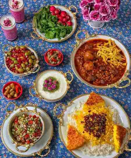 تزیین میز شام سلف سرویس
