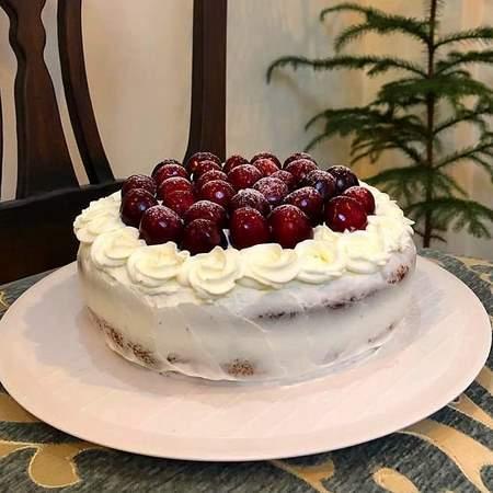 تزیین کیک با شکلات سنگی