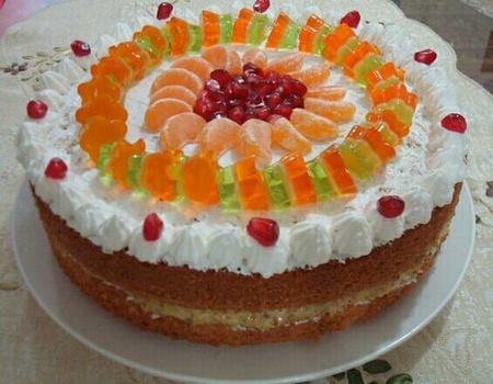 تزیین کیک خانگی در منزل