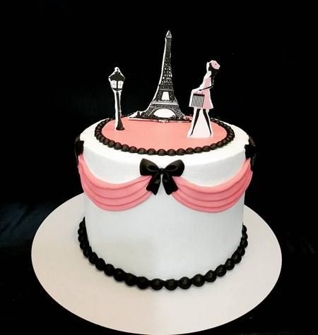 کیک تولد دخترانه جوان