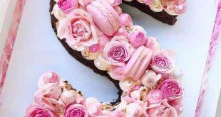 تزيين کيک با حروف
