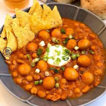 طرز تهیه خوراک لوبیا چیتی ساده