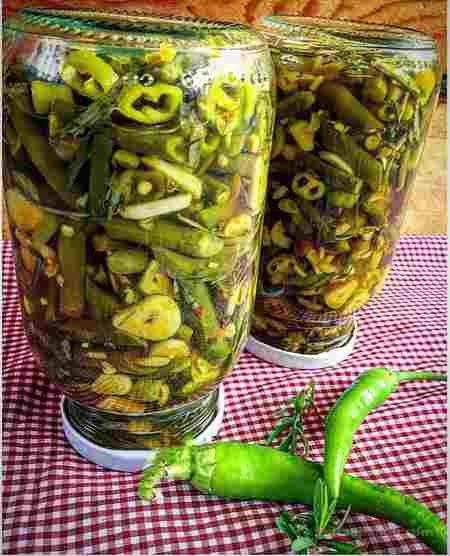 طرز تهیه ترشی لوبیا سبز خانم گلاور