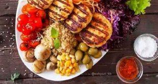 طرز تهیه مرغ برگر سبزیجات