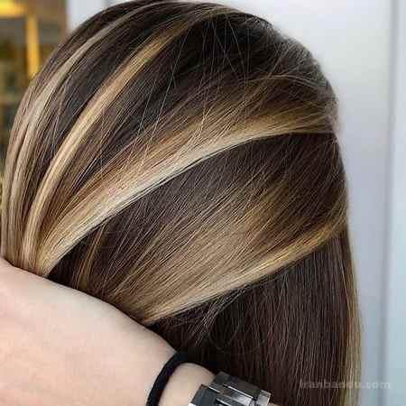 رنگ موی عسلی شکلاتی